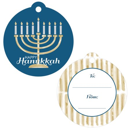 Happy Hanukkah - Chanukah Favor Gift Tags - Set of 20 (Hanukkah Supplies)
