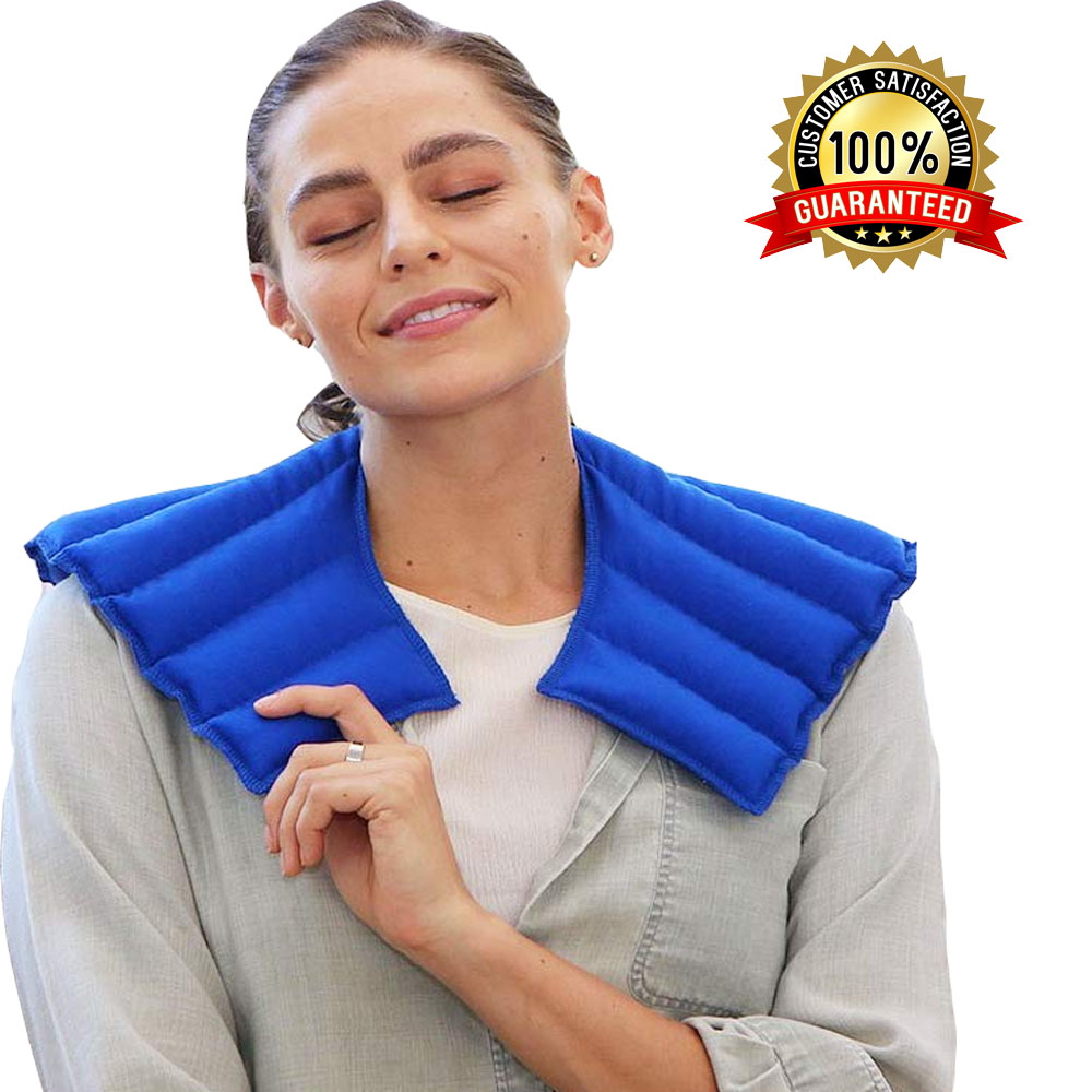 Anti Swelling Pain Relief Heat Therapy Neck Shoulder Pain Relief Heating Pad - Blue