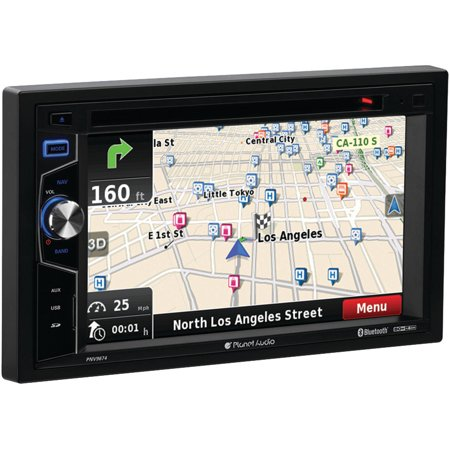 """Planet Audio PNV9674 6.2"""" Double-DIN In-Dash Navigation Touchscreen DVD Receiver with Bluetooth"""