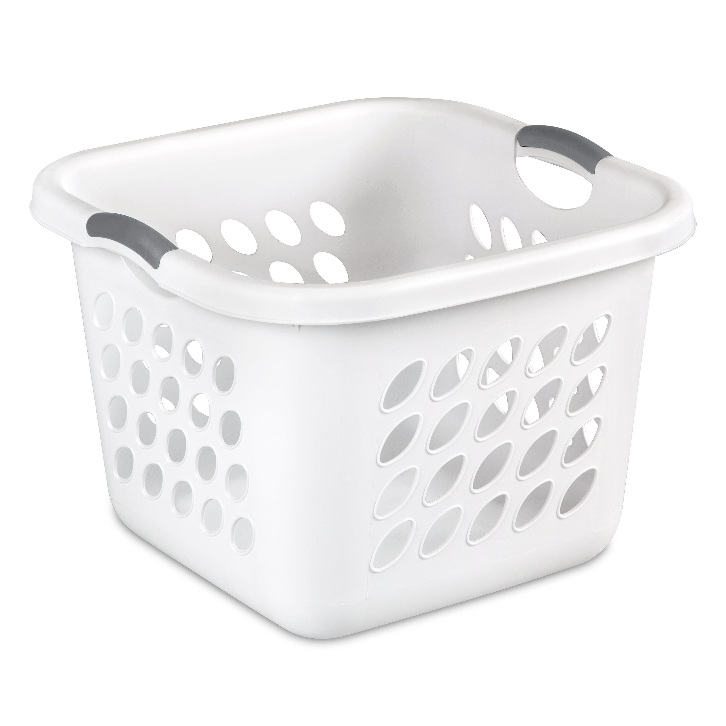 Sterilite 1.5 Bushel/53 L Ultra™ Square Laundry Basket, White