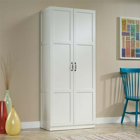 Double Door Utility Cabinet - Sauder Select Storage Cabinet, White Finish