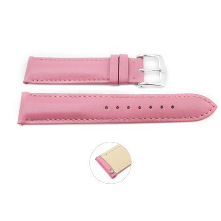 Quick Release 18mm Pink Leather Smooth Watch Band - Interchangeable Womens Watch Straps