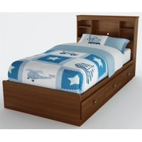 Twin Bookcase Mates Bed in Sumptuous Cherry Finish - Willow