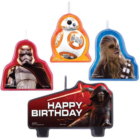 Star Wars Episode VII The Force Awakens Birthday Candle Set](Star Wars Candles)