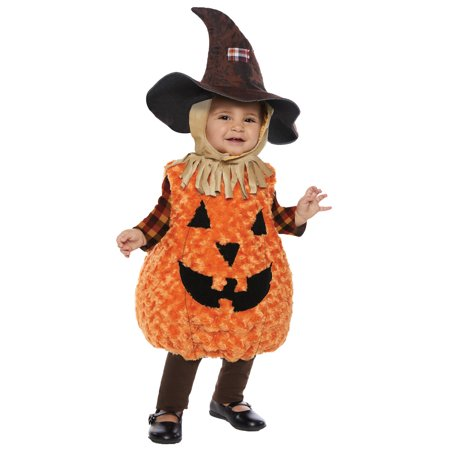 Soft Snuggly Toddler Scarecrow Orange Pumpkin Body W/Hat Halloween Costume - Scarecrow Hat