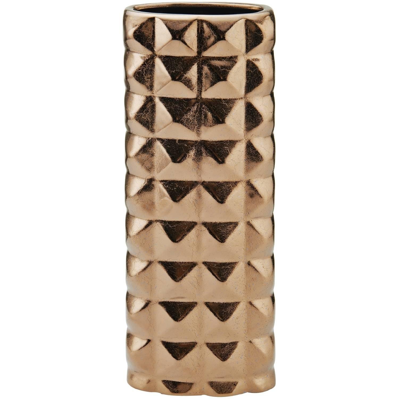 Elements Gunmetal Pyramid Tall Oval Vase