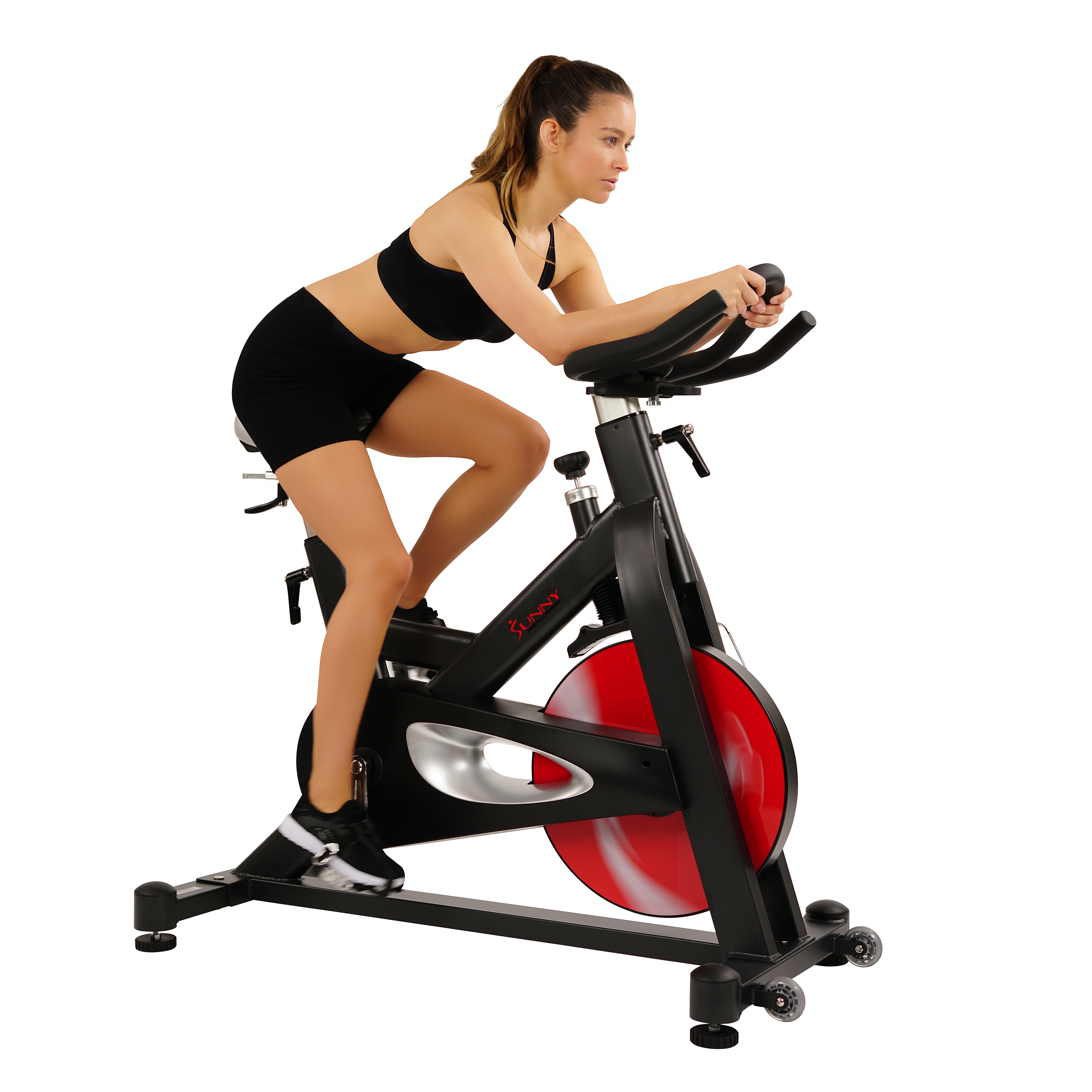 Sunny Health & Fitness Belt Drive Indoor Cycling Bike SF-B1714 with 44 lb. Flywheel