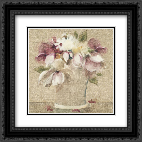 Cottage Bouquet II no Border 2x Matted 20x20 Black Ornate Framed Art Print by Blum, Cheri