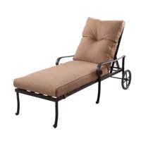 Darlee Santa Anita Patio Chaise Lounge in Antique Bronze
