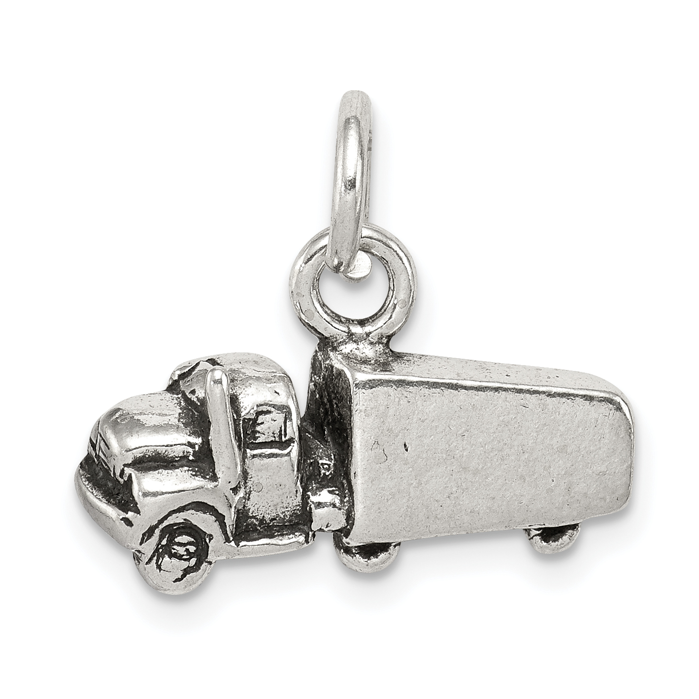 925 Sterling Silver Truck Pendant Charm Necklace Travel Transportation Fine Jewelry For Women Gift Set