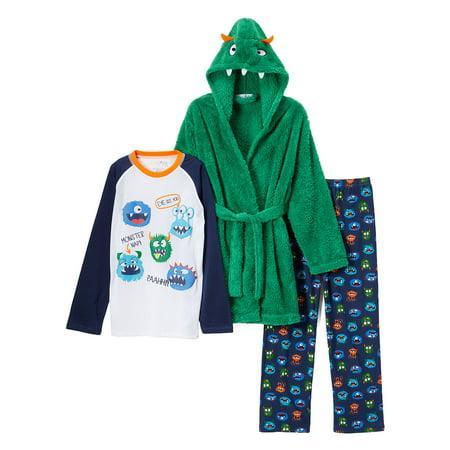Costume Robe & Long Sleeve Pajamas, 3-piece Gift Set (Toddler Boys)](Eeyore Pajama Costume)