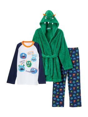 Costume Robe & Long Sleeve Pajamas, 3-piece Gift Set (Toddler Boys)