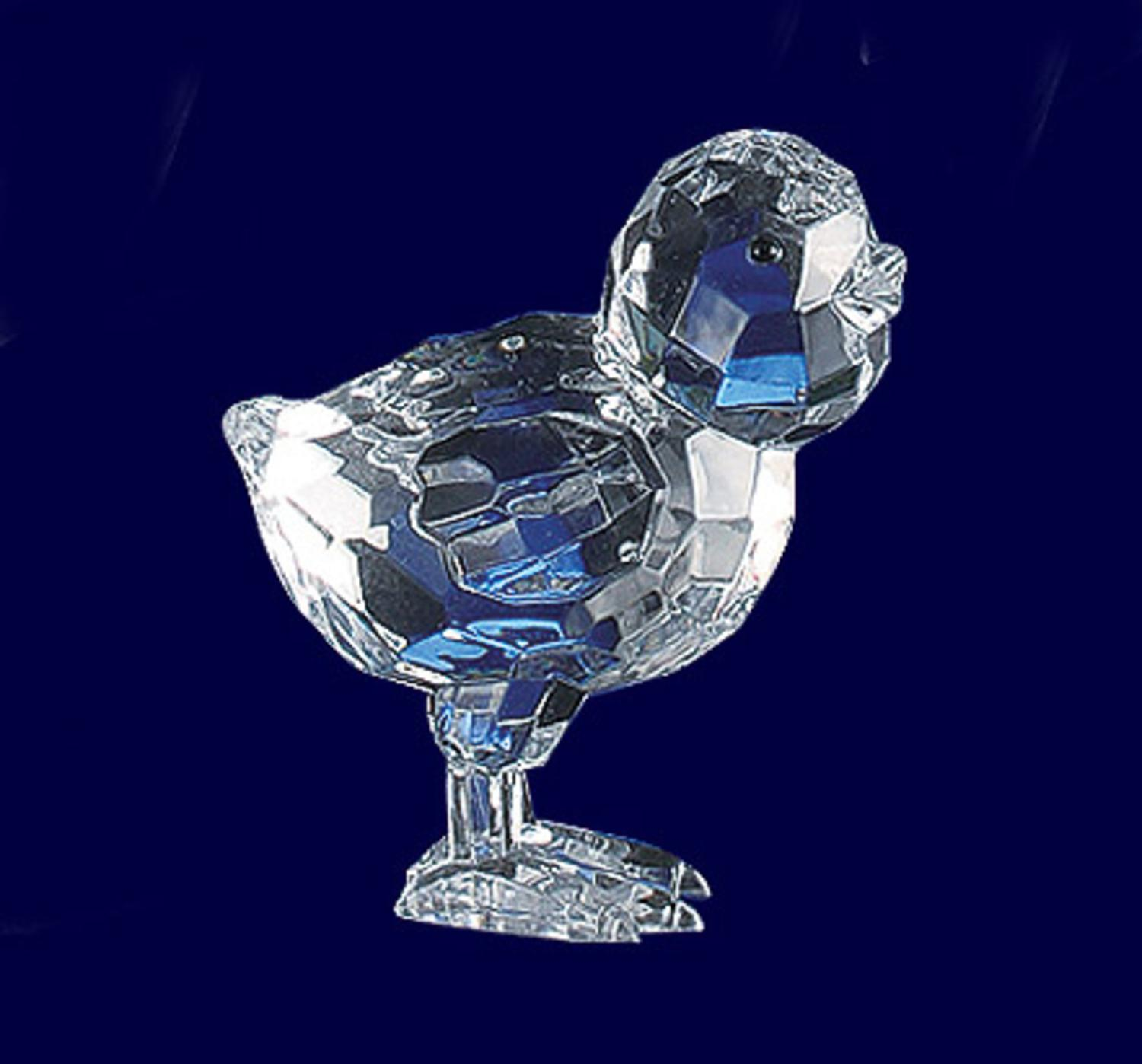 Club Pack of 18 Icy Crystal Decorative Chick Figurines 2.5""