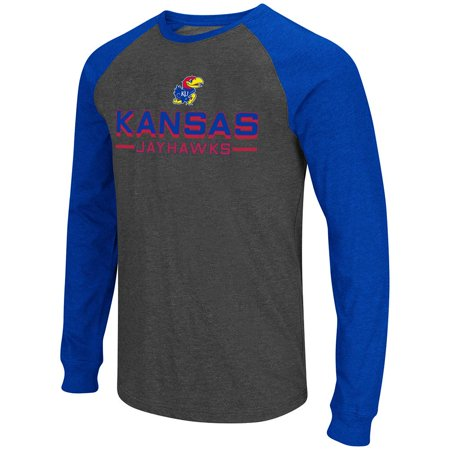 1988 Kansas Jayhawks Basketball - Mens NCAA Kansas Jayhawks Olympus II Long Sleeve Tee Shirt