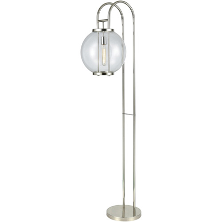 Floor Lamps 1 Light With Aged Pewter Finish Metal Glass Material E26 Bulb Type 67 inch 100 Watts Aged Pewter One Light