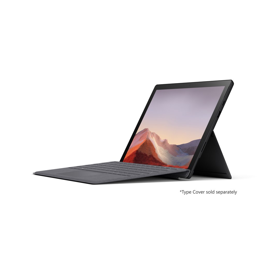 """Microsoft Surface Pro 7, 12.3"""" Touch-Screen, Intel Core i7, 16GB Memory, 512GB Solid State Drive, Matte Black, VAT-00016"""
