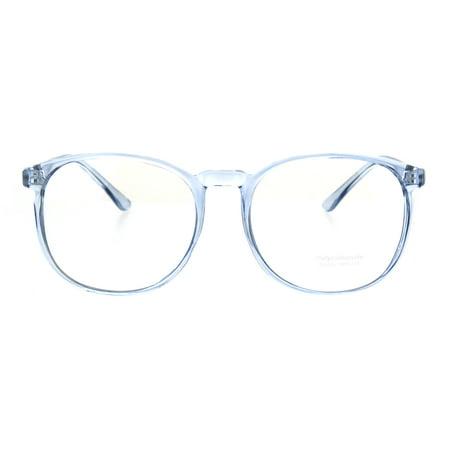 Womens Translucent Color Frame Plastic School Girl Eyeglasses