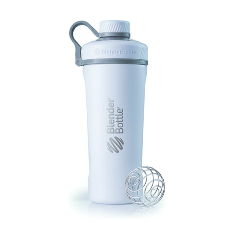 Blender Bottle Pro 26 Ounce Radian Insulated Stainless Steel White Shaker Cup