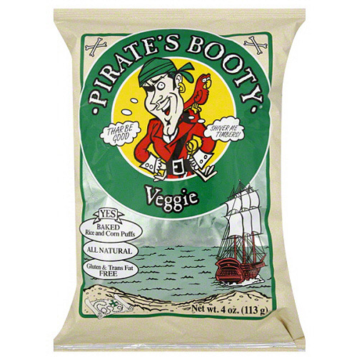 Pirate's Booty Veggie Baked Rice and Corn Puffs, 4 oz (Pack of 12)