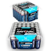 (2 Pack) Rayovac High Energy Alkaline, AA Batteries, 48 Count