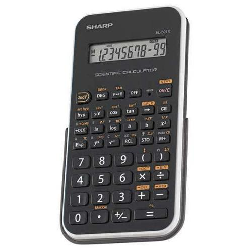 SHARP SHREL501XBWH Scientific Calculator, LCD, 10 Digit