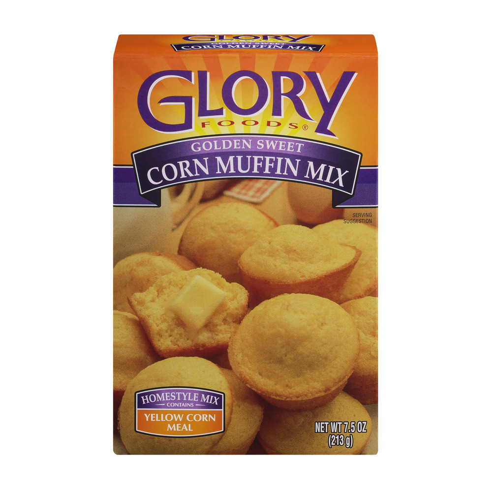 Glory Foods Golden Sweet Corn Muffin Mix Yellow Corn Meal, 7.5 OZ by McCall Farms, Inc