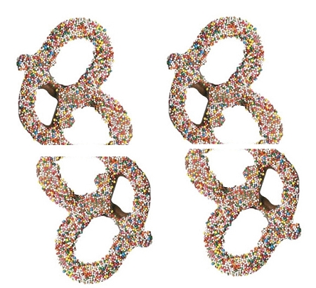 Premier Milk Chocolate Dipped Pretzels With Nonpareils, 3 Pounds