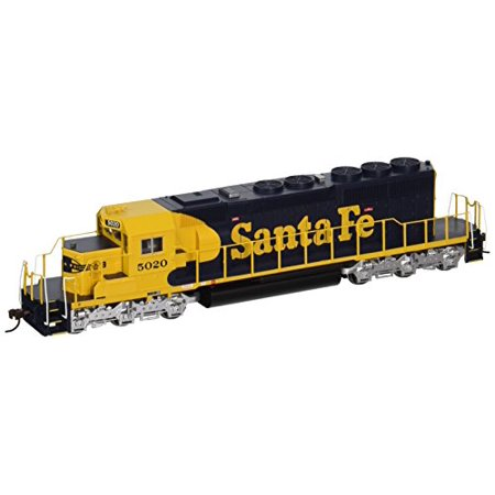 Bachmann - EMD SD40-2 w/DCC -- Santa Fe #5020 (Warbonnet; Blue, yellow) - HO