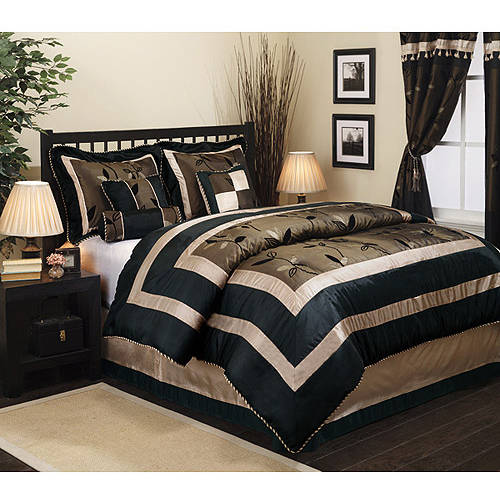 black bedroom comforter sets pastora 7 bedding comforter set walmart 14565