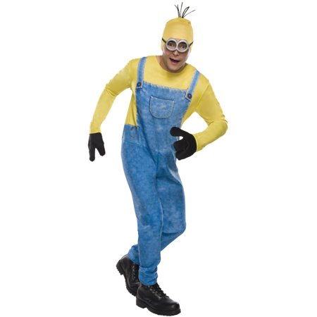 Minion Headpiece Adult Despicable Me Movie Head Hair Wig Bald Cap Hat (Losing Hair On Top Of My Head Female)