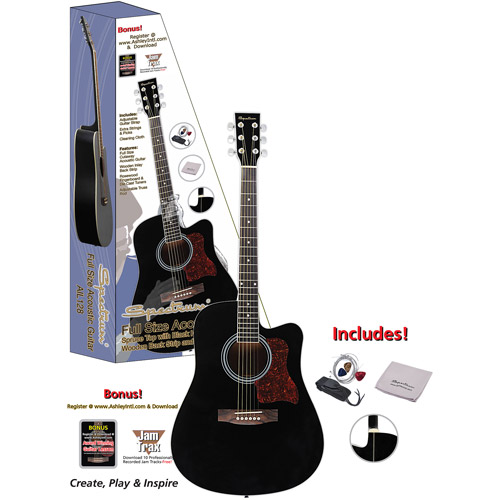 "Spectrum 41"" AIL-128 Black Cutaway Acoustic Guitar"