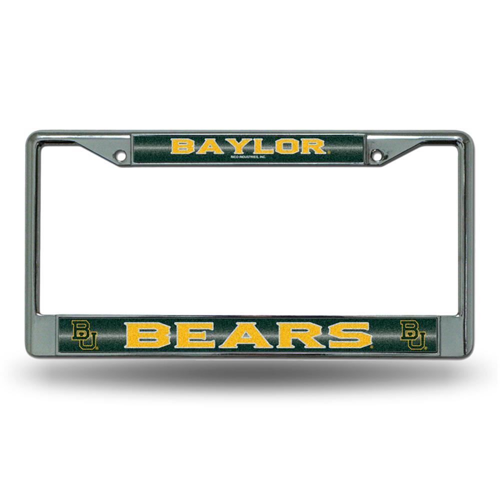 Baylor Bears NCAA Bling Glitter Chrome License Plate Frame