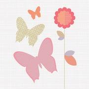 Trendy Peas Butterfly Bloom Wall Art