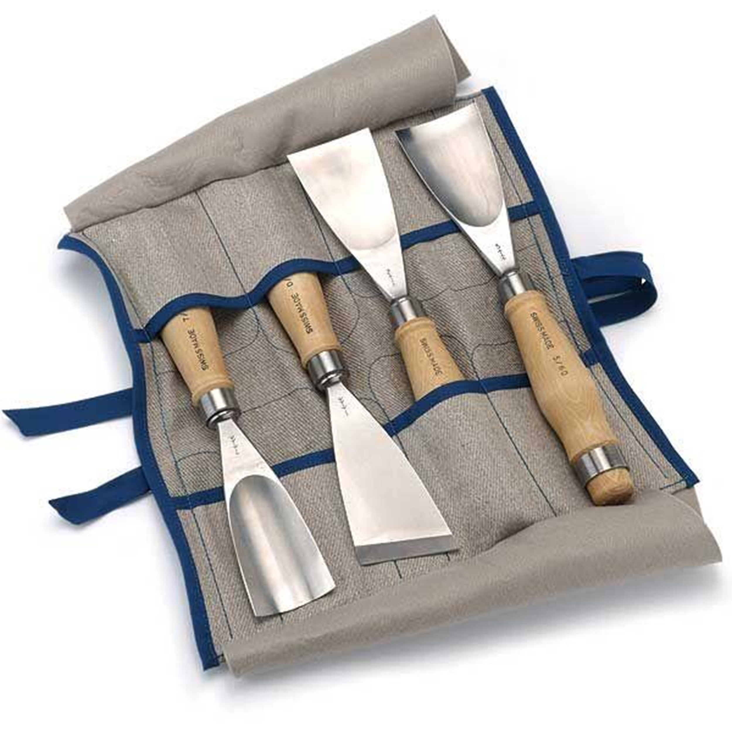 "PFEIL ""Swiss Made"" Fishtail Gouge Set, 4 piece"