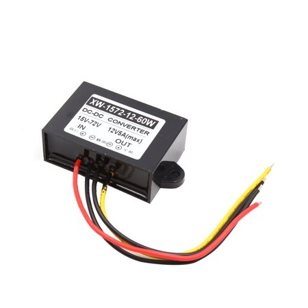 60w Electronic Transformer (DC 15V -72V to 12V 5A 60W Car Step Down Power Supply Transformer Converter)