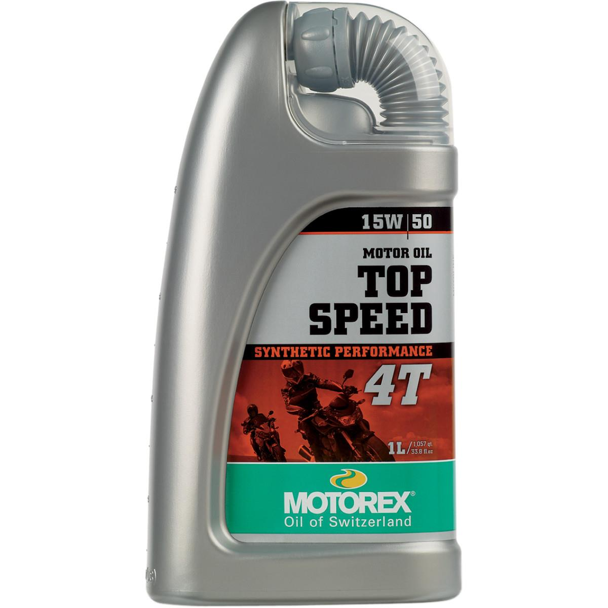 Motorex 109327 Top Speed 4T Oil - 15W50 - 1L.