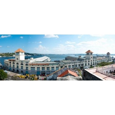 Buildings at the harborfront Sierra Maestra Havana Harbor Old Havana Havana Cuba Canvas Art - Panoramic Images (15 x 6)