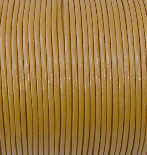 Imported India Leather Cord 2mm Round 5 Yards Light Camel
