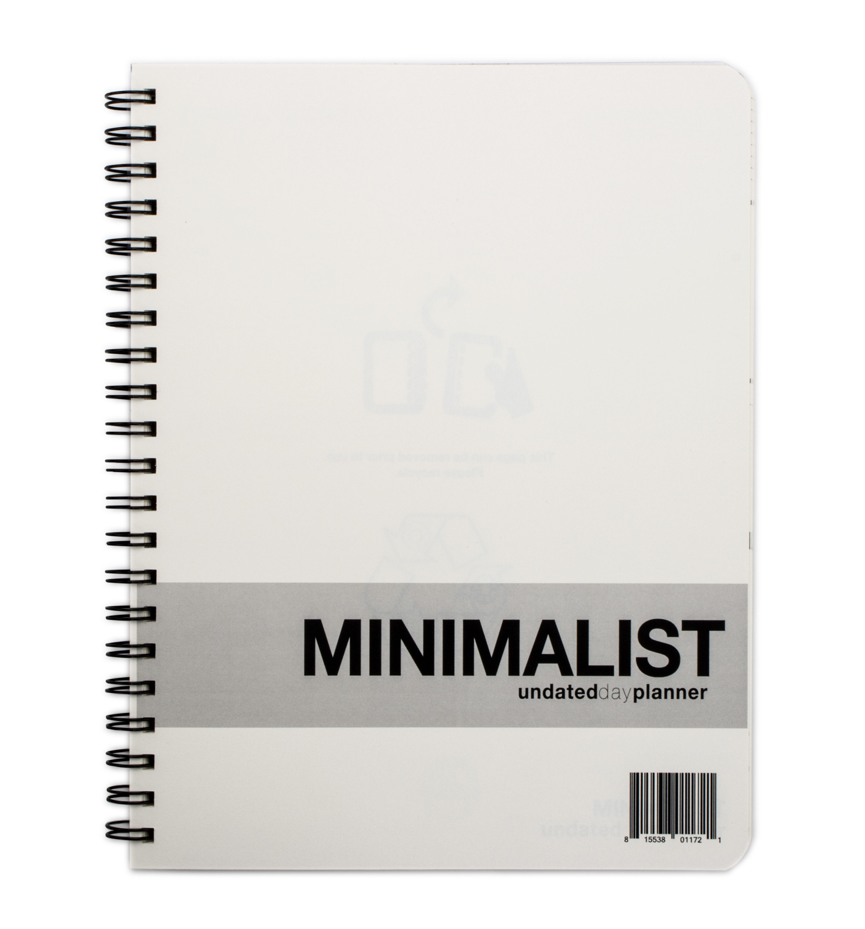 graphic about Large Daily Planner referred to as Minimalist Undated Superior Working day Planner