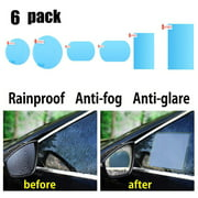 1 Pair Of Car Rearview Mirror Waterproof And Anti-Fog Rain-Proof Film Side Window Glass Film A Variety Of Size Specifications
