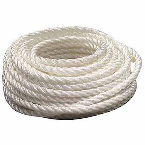 "Lehigh Group PT850W-P Twisted Polypropylene Rope, 3/8"" x 50'"