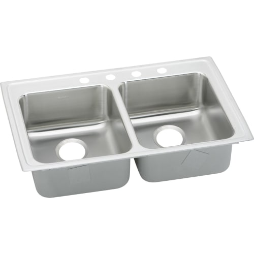 drop in kitchen sinks elkay lrad331945 gourmet 33 quot basin drop in 6971