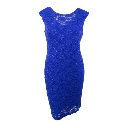 Connected Women's Sequined Lace Sheath Dress