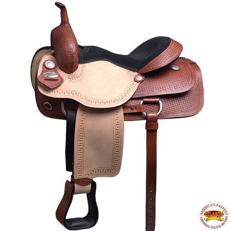 16 in Western American Leather Horse Saddle Ranch Roping Cutting Riding American Ranch Horse