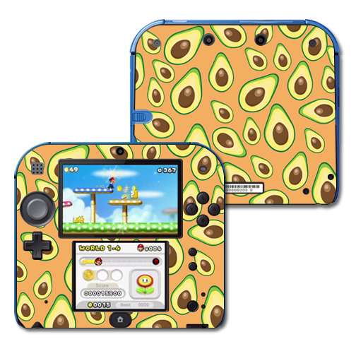 Mightyskins Protective Vinyl Skin Decal Cover for Nintendo 2DS wrap sticker skins Orange Avocados