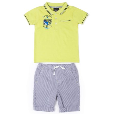 Baby Toddler Boy Polo Shirt & Shorts, 2pc Outfit Set