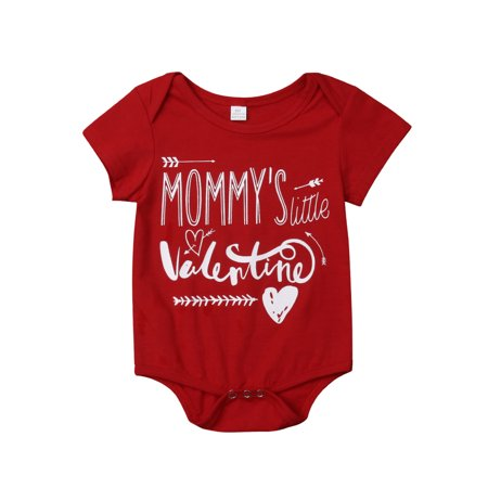 Valentine Brothers Kids T-shirt Tops Baby Boy Romper Bodysuit Clothes Outfit One-piece 0-6 (Boys One Piece Romper Outfit)