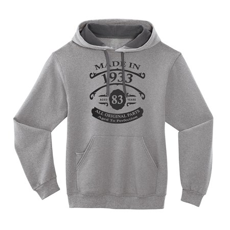 7e6060efd0de5 4Ink - 83rd Birthday Hoodie - - Aged to Perfection - Vintage 1933 ...