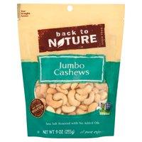 Back To Nature Cashews Jumbo Sea Salt,9 Oz (Pack Of 9)