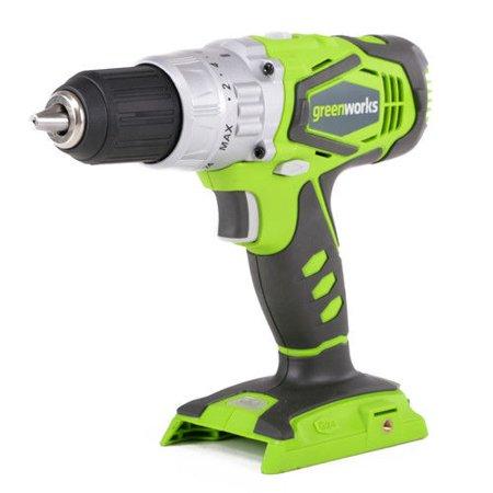 - Greenworks 24V Cordless Lithium-Ion 2-Speed 1/2-Inch Hammer Drill, Battery Not Included 3700502A